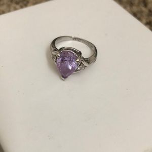 Jewelry - Silver and purple stone ring